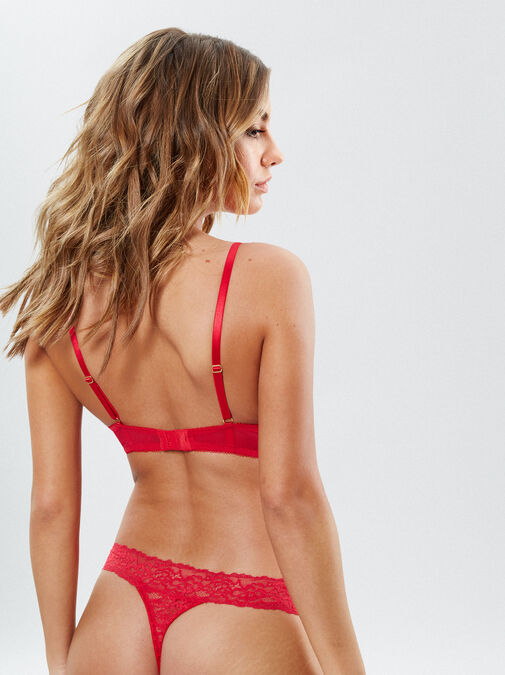 Sexy Lace Plunge Bra image number 1.0