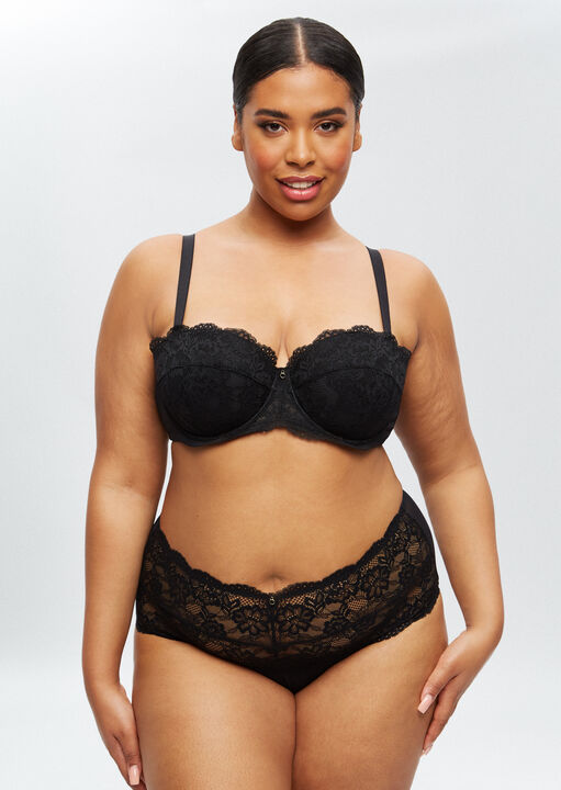 Sexy Lace Sustainable High Waisted Brief image number 9.0