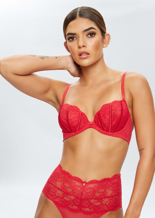 Sexy Lace Sustainable Non Padded Bra image number 2.0