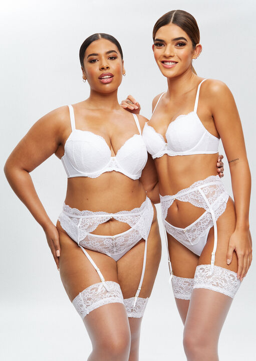 Sexy Lace Sustainable Suspender Belt image number 6.0
