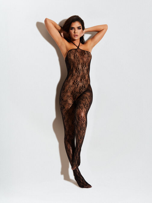 The Hottie Crotchless Bodystocking image number 1.0