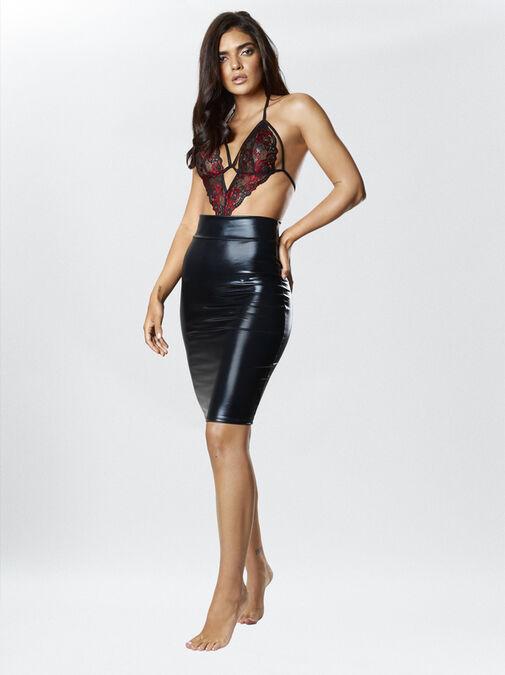 Zuri Wet Look Skirt image number 1.0