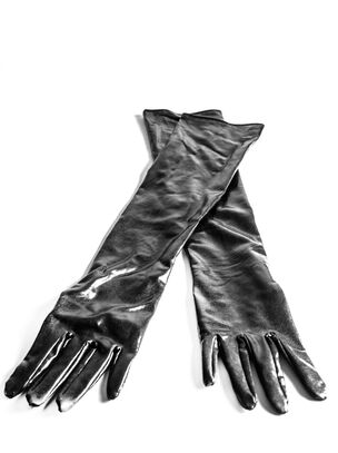 Long Wet Look Gloves