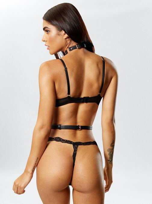 Black Adjustable Body Harness image number 1.0