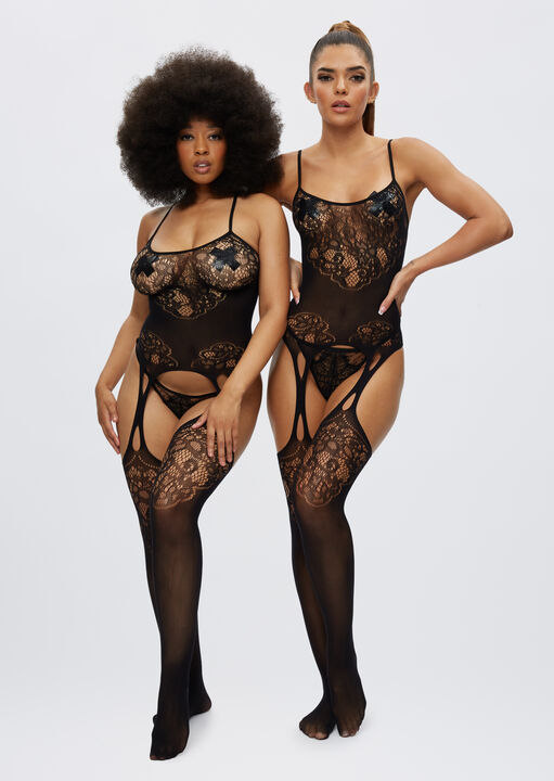 The Flaunted Crotchless Bodystocking image number 1.0