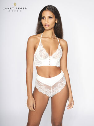 Janet Reger Bride To Be High Apex Plunge Bra