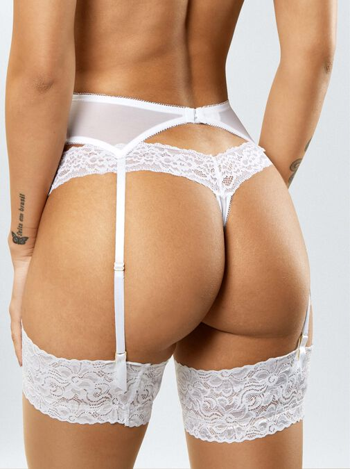 Sexy Lace Suspender Belt  image number 1.0