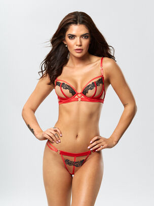 The Show Stopper Erotic Bra and String Set