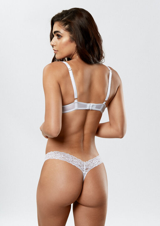 Sexy Lace Push Up Plunge Bra image number 4.0