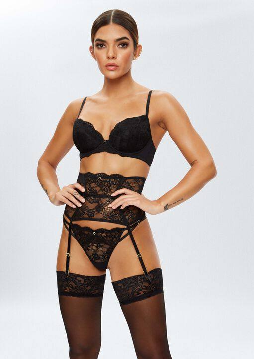 Sexy Lace Sustainable Plunge Bra image number 4.0