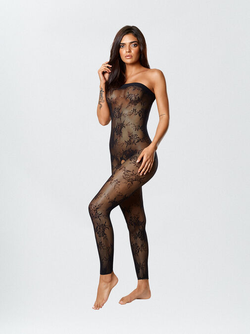 Tyra Reversible Crotchless Bodystocking and Dress image number 2.0