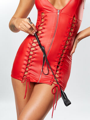 Faux Leather Riding Crop