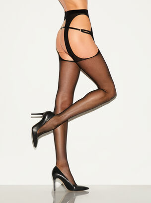 Crotchless Glossy Tights