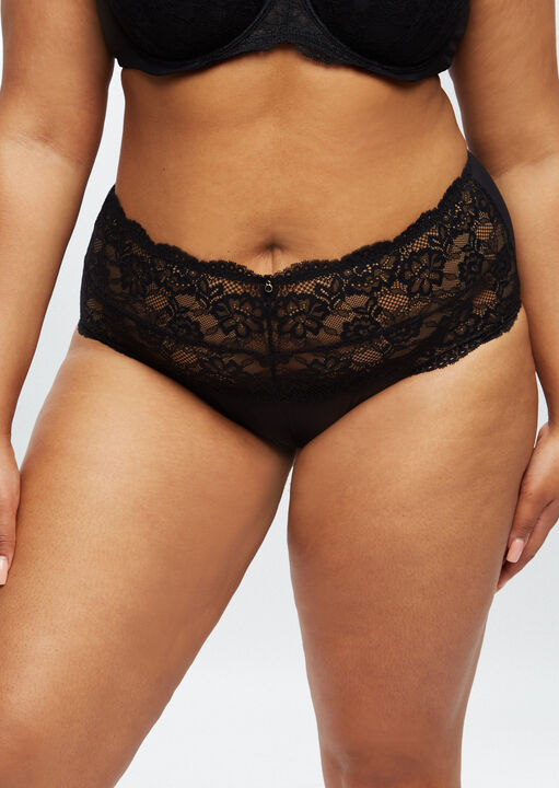 Sexy Lace Sustainable High Waisted Brief image number 1.0