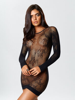 Tyra Reversible Crotchless Bodystocking and Dress