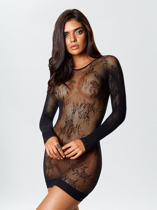 Tyra Reversible Crotchless Bodystocking and Dress image number 0.0
