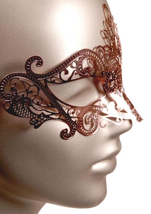 Rose Gold Masquerade Mask image number 1.0