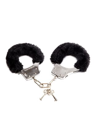 Black Faux Fur Handcuffs