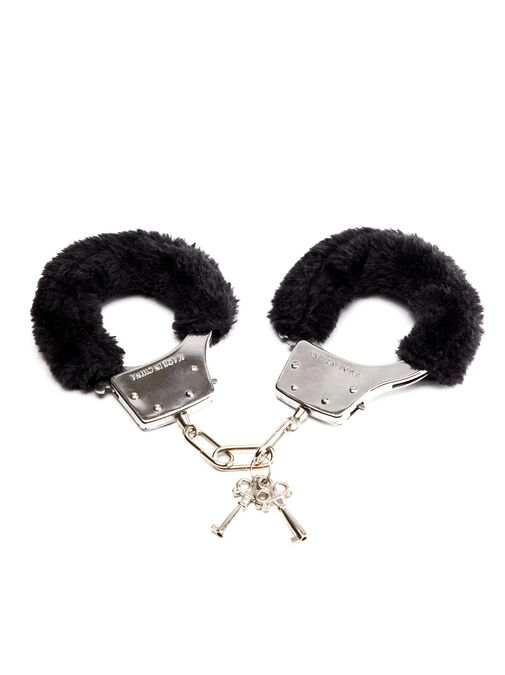 Black Faux Fur Handcuffs image number 0.0