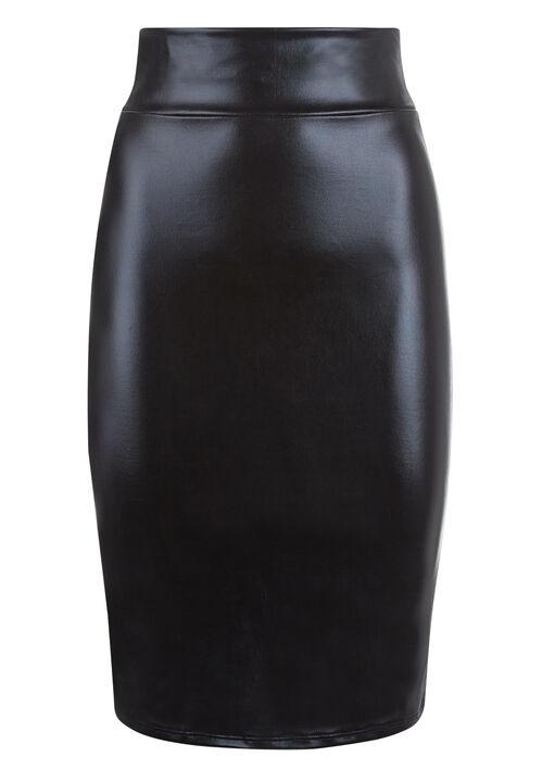 Zuri Wet Look Skirt image number 3.0