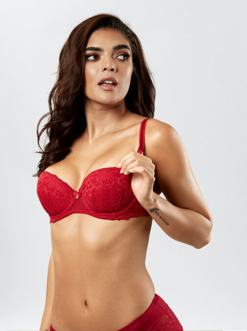 Sexy Lace Balcony Bra image number 5.0