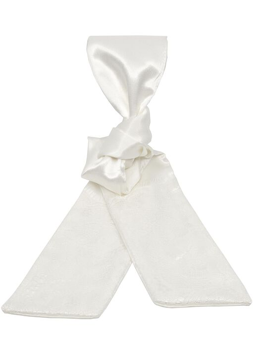 Satin & Lace Tie Ivory image number 0.0