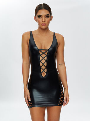 Samara Wet Look Dress