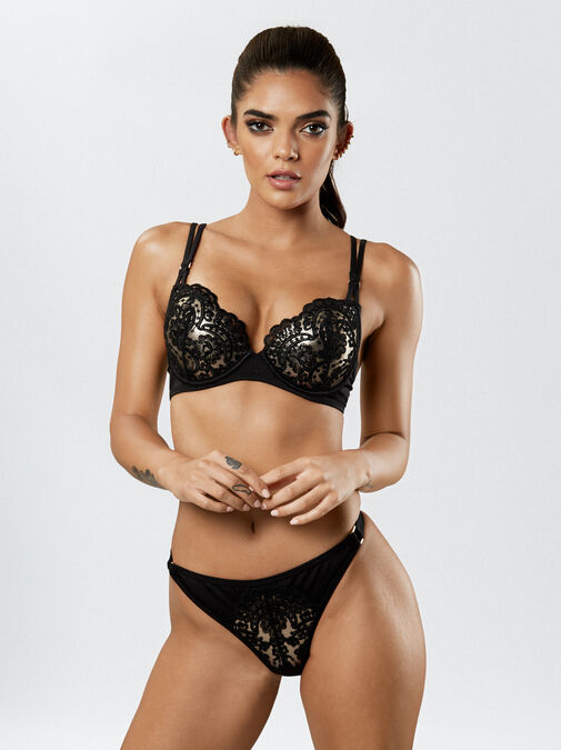 Fiercely Sexy Push Up Plunge Bikini Top image number 4.0