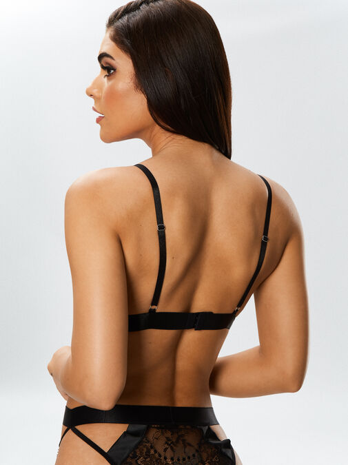 The Knockout Bra and Crotchless Knickers Set image number 2.0