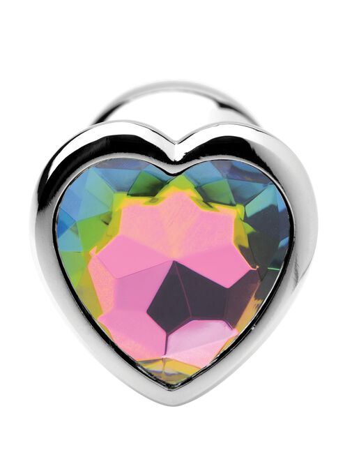 Rainbow Prism Heart Small Anal Plug image number 2.0