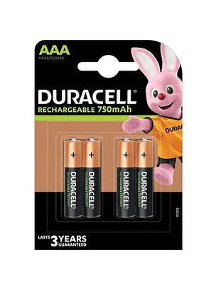 AAAx4-1300mah Duracell Rechargable Batteries