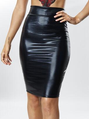 Zuri Wet Look Skirt