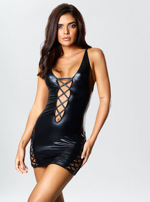 Samara Wet Look Dress