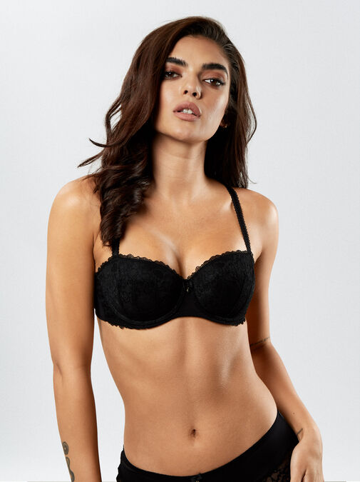 Sexy Lace Balcony Bra  image number 0.0
