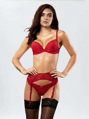 Sexy Lace Push Up Plunge Bra