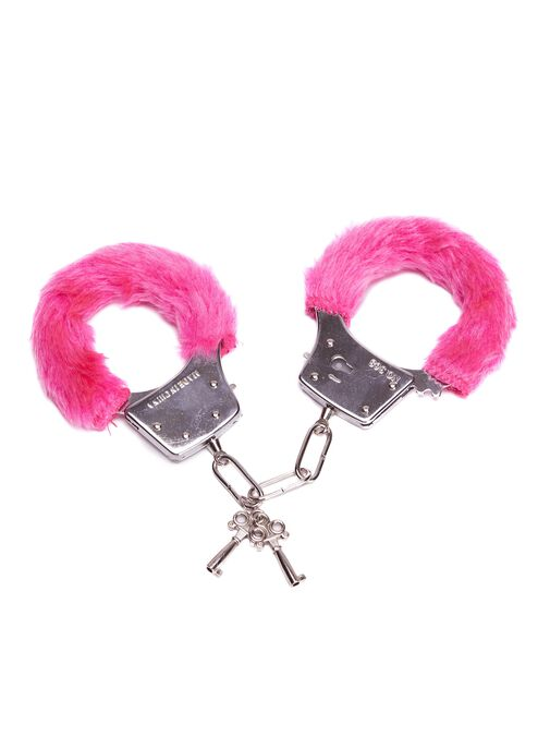 Hot Pink Faux Fur Handcuffs image number 0.0