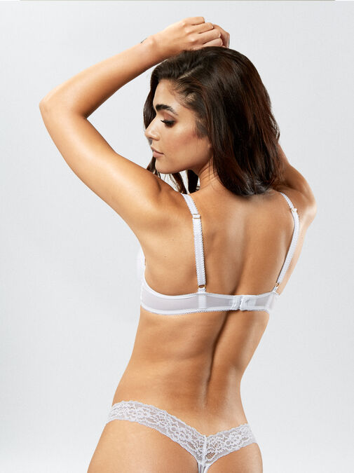 Sexy Lace Push Up Plunge Bra image number 1.0