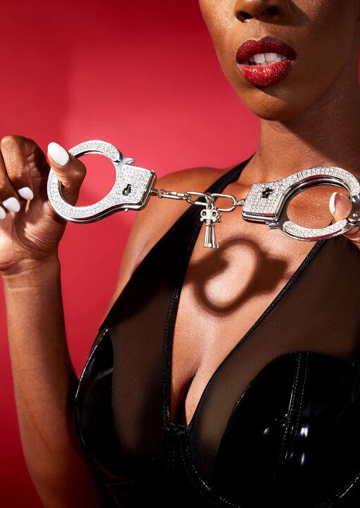 Diamante Metal Cuffs image number 4.0