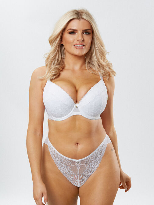 Sexy Lace Push Up Plunge Bra image number 6.0