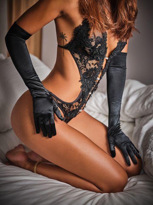 Elbow Length Satin Gloves image number 0.0