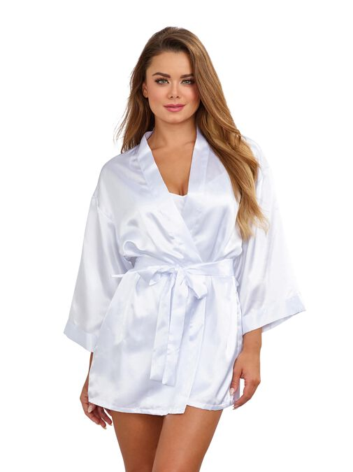 Dreamgirl Chemise and Robe Set  image number 3.0