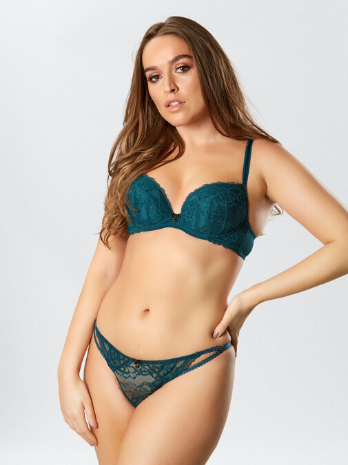 Sexy Lace Plunge Bra image number 2.0