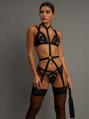 Shadow Crotchless Set