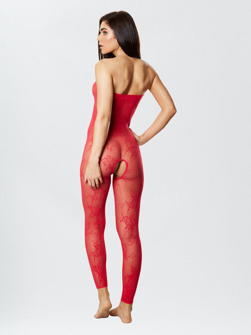 Tyra Reversible Crotchless Bodystocking and Dress image number 3.0