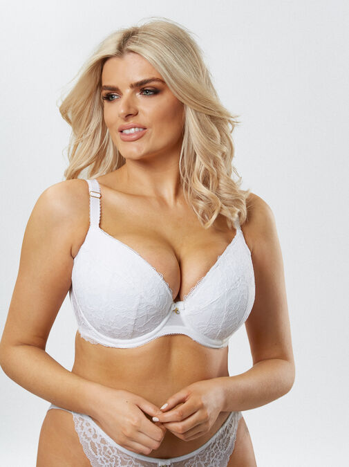 Sexy Lace Push Up Plunge Bra image number 8.0
