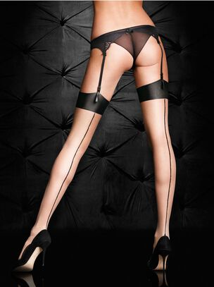 Plain Top Seamed Stockings