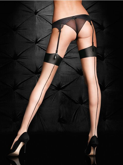 Plain Top Seamed Stockings image number 0.0