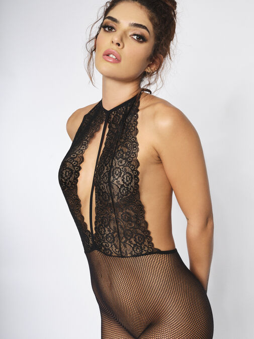 The Dream Girl Crotchless Bodystocking image number 2.0