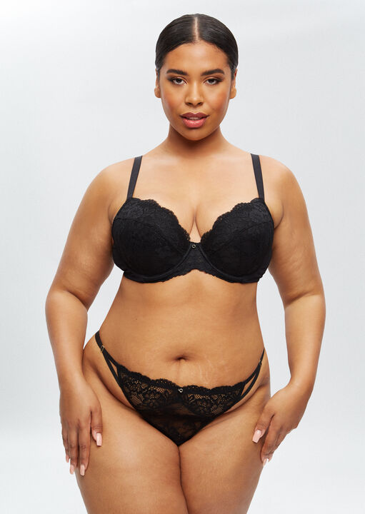 Sexy Lace Sustainable Plunge Bra image number 3.0