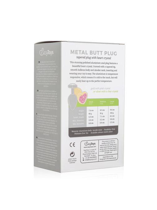 Metal Heart Butt Plug image number 5.0